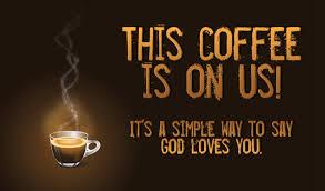 coffe on us