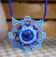 """Mandala Marble Wrap Beaded Necklace: by flickr user """"starsunflower"""" at http://www.flickr.com/photos/starsunflower/3574049620/in/photostream/"""